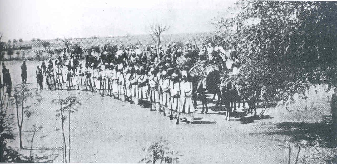 Bornu musketeers and drummers 1912