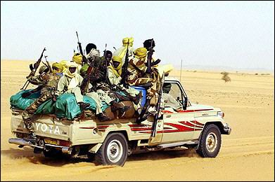 Polisario guerillas fight in the Spanish Sahara