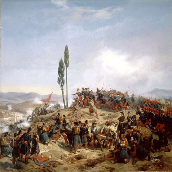 French troops advance in Algeria