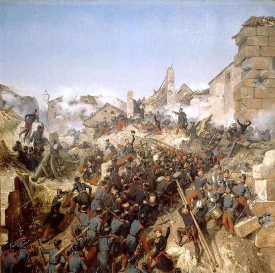French troops storm Constantine in Algeria 1830s