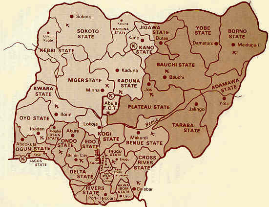 Nigeria during the Biafran War of 1970, when the Ibo tribe of the east declared a short lived independence