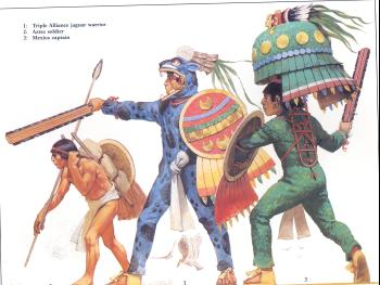 Mexica warriors