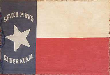actual banner carried by Hoods Texas Brigade