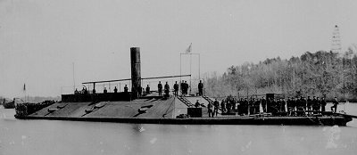 The USS Atlanta on the Mississippi river