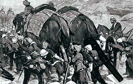 elephant drawn battery 1878