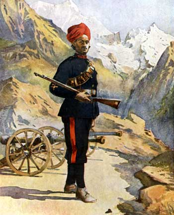 Imperial mountain gunner 1878