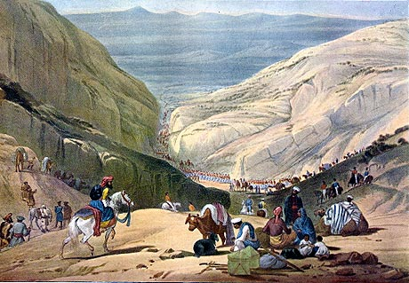 the British debouch into Afghanistan from the Khyber 184?