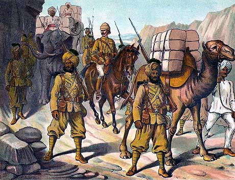 transporting supplies through the Khyber