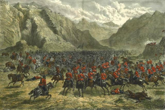 cavalry action in the Chardeh Valley