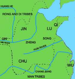warrring kingdoms under the eastern Zhou
