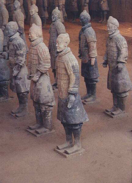 the terracotta warriors found in the grave of the first Emperor