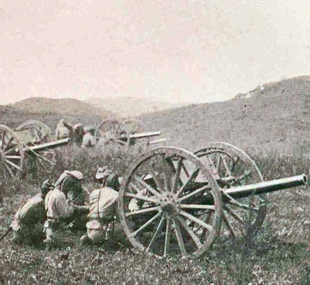 Japanese 75mm battery in Manchuria 1904-5
