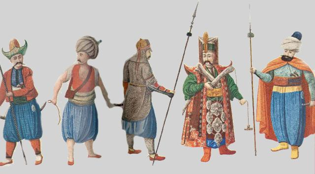 Janissary general and troops