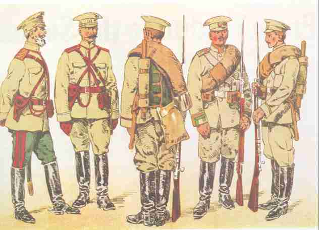 a selection of summer uniforms