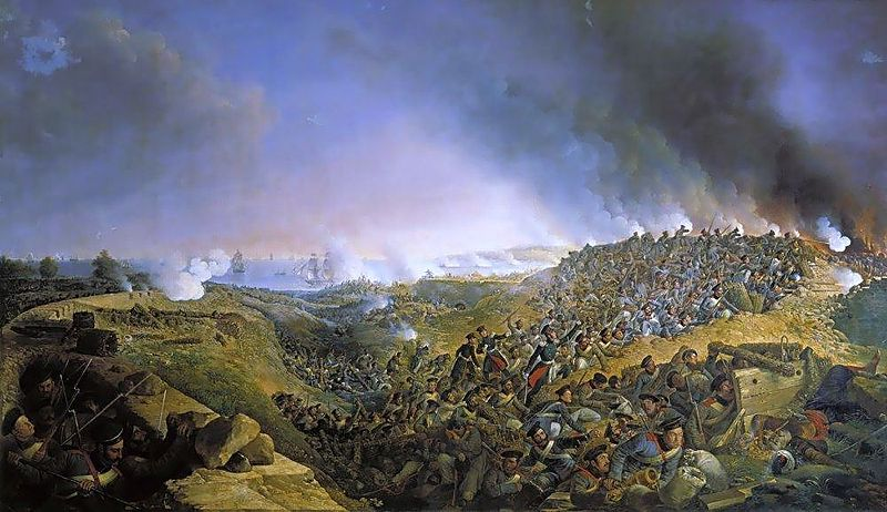 Russians storm Varna during the Turkish war of 1828