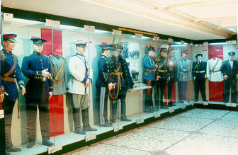 Display in the Bucharest military museum