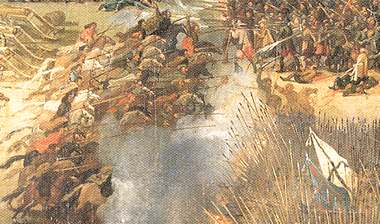 Polish cavalry routs the Swedes at Kircholm 1605