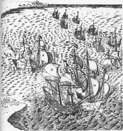 sea battle nr Danzig 1627