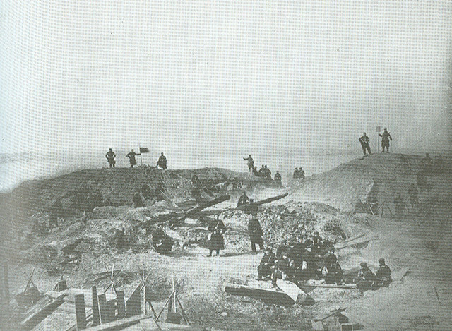 the captured redoubt 2 at Dybboel 1864