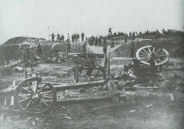 the captured redoubt 4 at Dybboel 1864