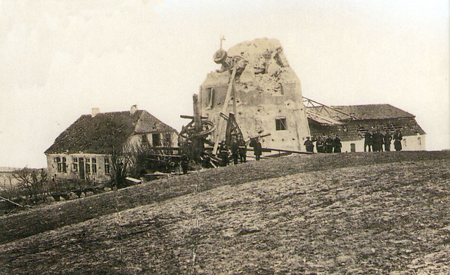 the windmill overlooking the Dybboel redoubts after the bombardment