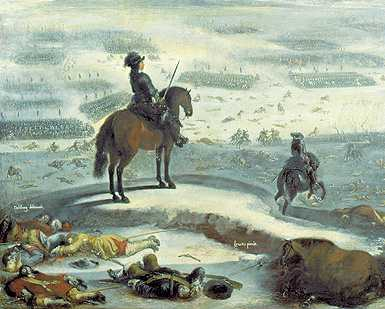 Charles X of Sweden invades across the ice