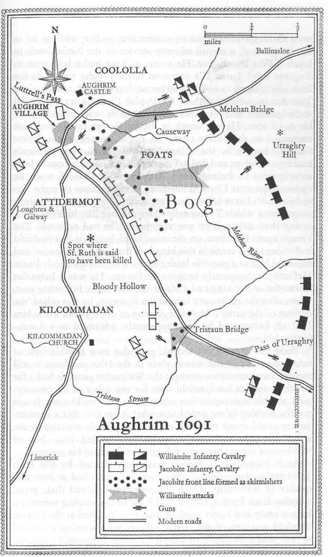 map of Aughrim 1691