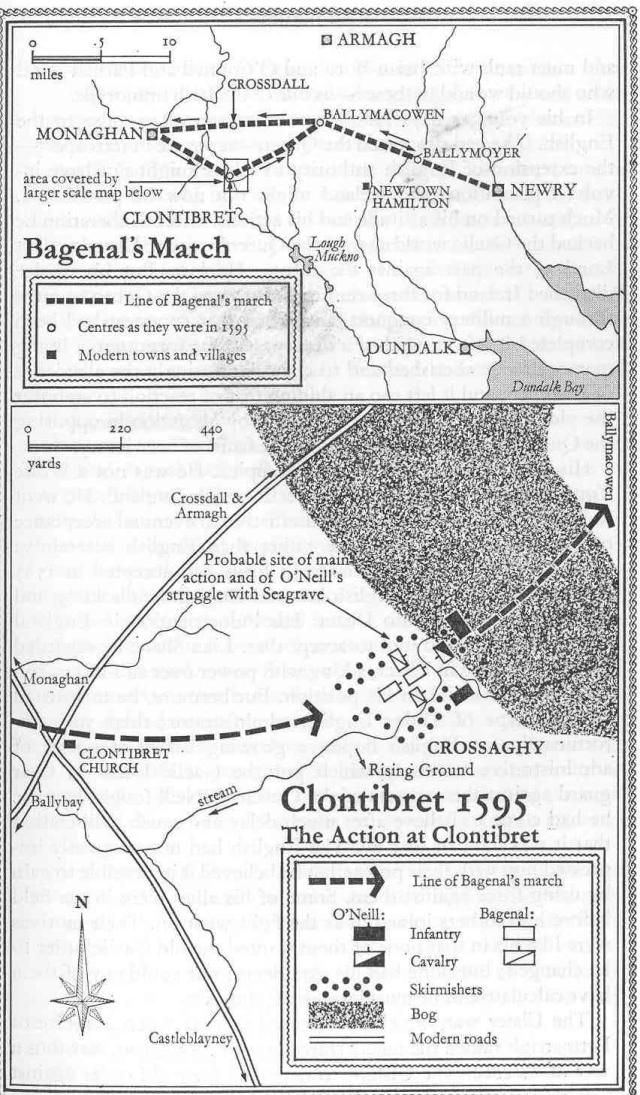 map of Clontibret 1595
