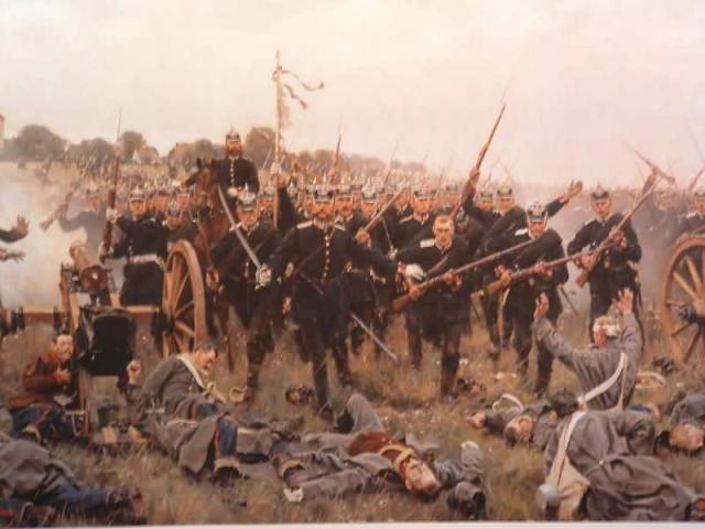 Hessian troops charge