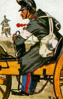 Austrian limber of 1866 showing the yellow painted artillery equipment