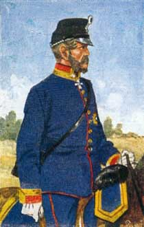 Saxon general on the Austrian side