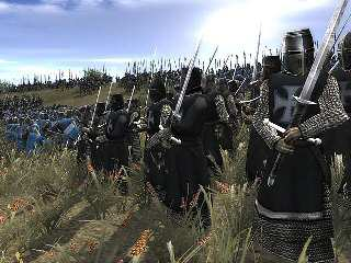 Teutonic knights dismounted in a still from the game MEDIAEVAL TOTAL WAR