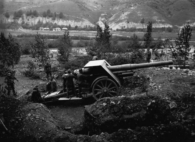 Austrian 15cm field gun of ww1