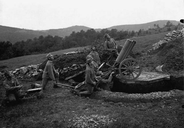 Austrian mountain howitzer of ww1