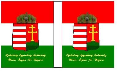 Flag of the Hungarian Rising in 1848, put down with Russian help by the Hapsburgs