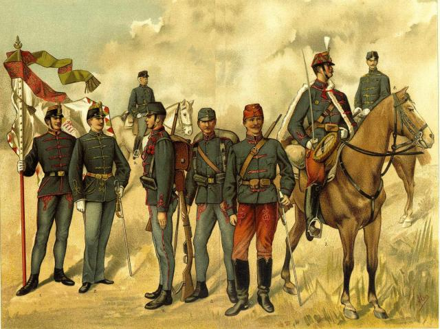 Hungarian troops of the late C19 - possibly 1889