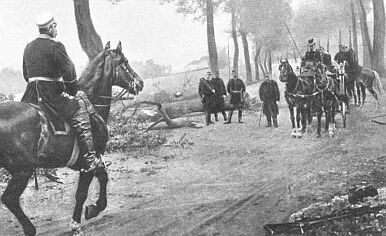 Bismarck approaches Napoleon III's carriage 1871