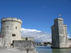 The Huguenot stronghold of La Rochelle off the west coast