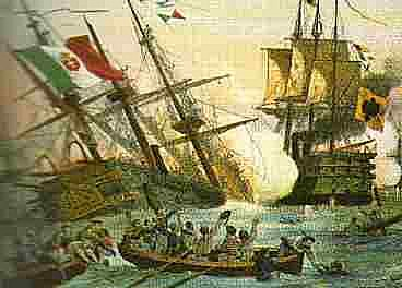 the Austrian victory off Lissa in Istria 1866 was one of the first battles between ironclad ships