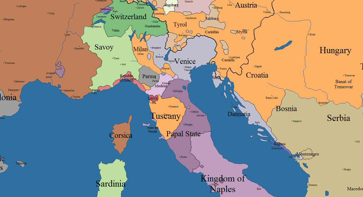 Military History Of Italy - Map of ancient rome po river