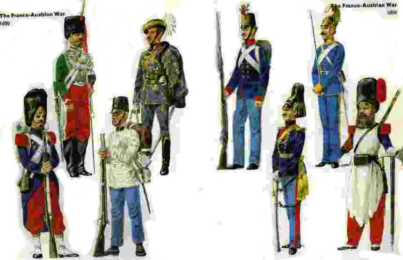 Uniforms of the 1859 war over Lombardy