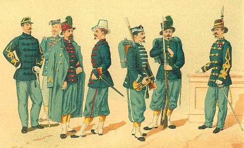 Empress Charlotte's regt in Mexico 1865