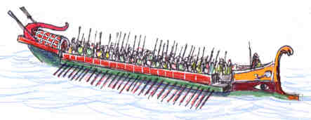Roman bireme - typical of the High Empire