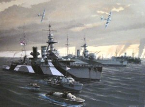 The allied fleet on D Day