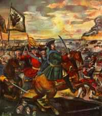 Peter the Great at Poltava 1709