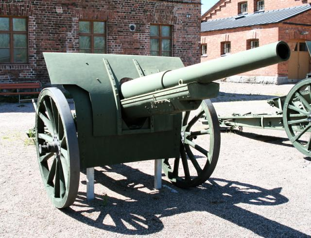 107mm gun of 1910 vintage