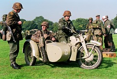 Waffen SS motorcycle combi