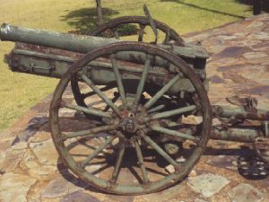 German WW1 mountain gun on display in Pretoria