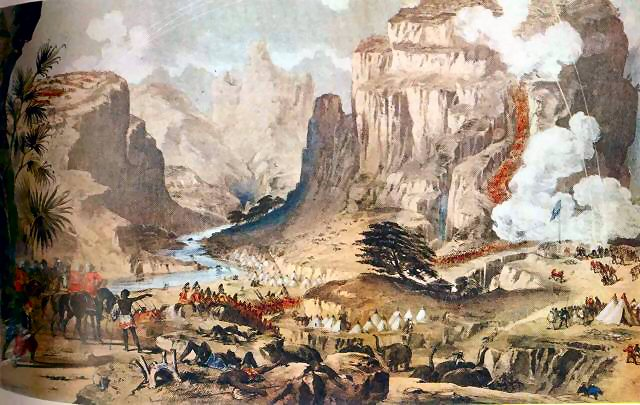 Charles Napier storms the rock of Magdala against the Ethiopian Emperor Theodorus in 1868