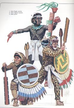 Aztec eagle and Jaguar elite warriors